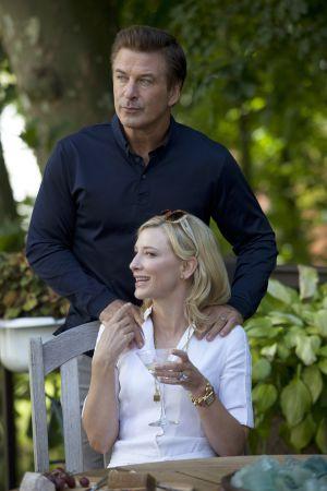 Los actores Alec Baldwin y Cate Blanchett, protagonistas del filme, en un  momento del rodaje.