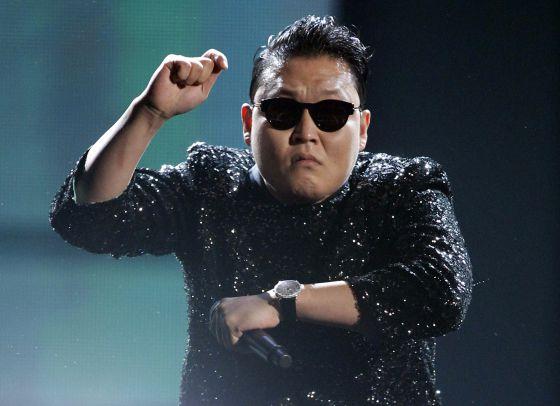El músico coreano Psy, bailando 'Gangnam Style' en los MTV Music Awards.