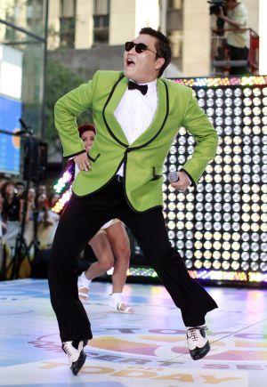 PSY, en pleno 'Gangnam Style'.