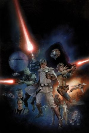 Una de las portadas del cómic basado en el primer guion de George Lucas.