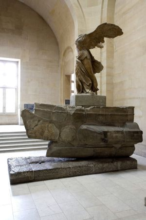 La 'Victoria de Samotracia', obra maestra de la escultura griega.