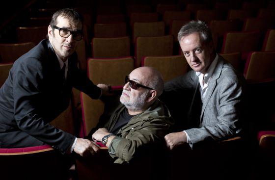 Por la izquierda, Luis Merlo, Gerardo Vera y Carlos Hipólito.