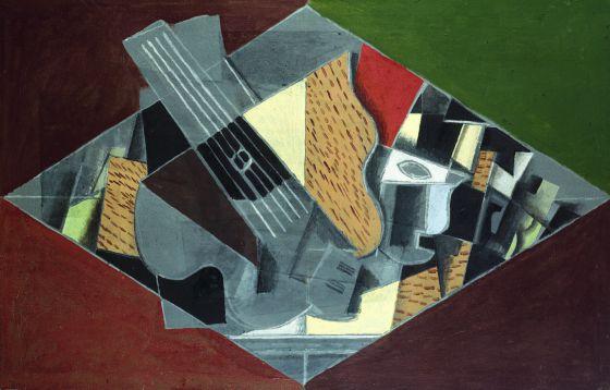 Guitarra y Vidrio, del artista Georges Braque