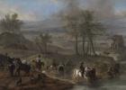 Partida de caza y pescadores, de Wouwerman