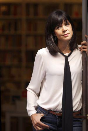 Lara Moreno, escritora española, en la Tipos Infames de Madrid.