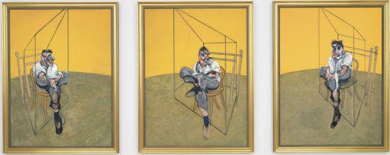 'Tres estudios de Lucian Freud', obra de Francis Bacon, que se convirtió en la madrugada de ayer en la más cara adjudicada en subasta de la historia.