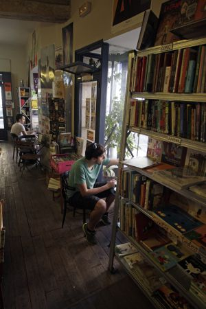La librería-café La Fugitiva en Madrid.