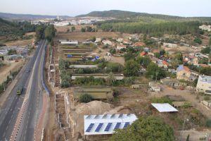 Vista aérea de la excavación, en una zona donde se iba a ampliar una carretera.