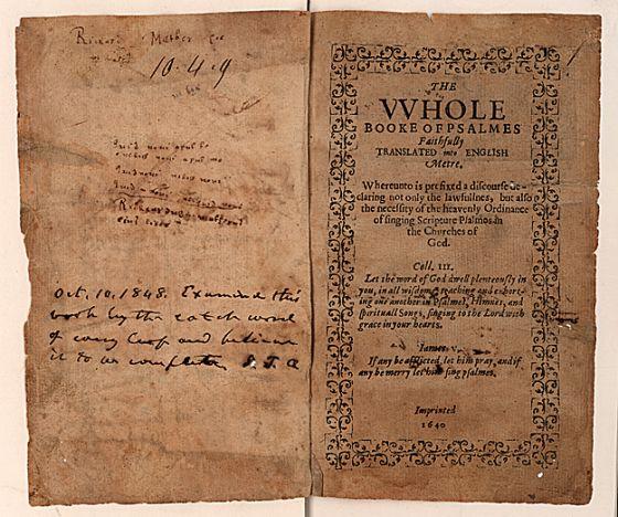El libro de los salmos subastado en Sotheby's.