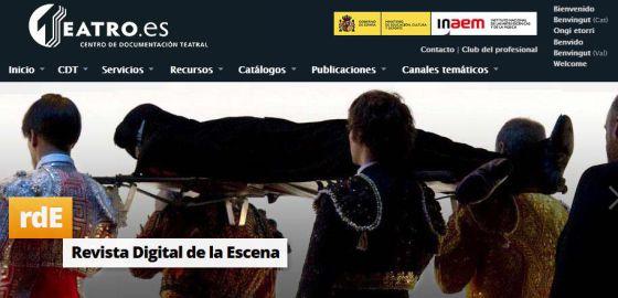 Nuevo diseño de la web del Centro de Documentación Teatral, www.teatro.es