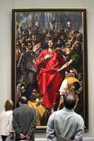 El Expolio de Cristo, de El Greco. Tras ser restaurado, el cuadro se expone estos días en el Museo del Prado antes de volver a la catedral de Toledo.
