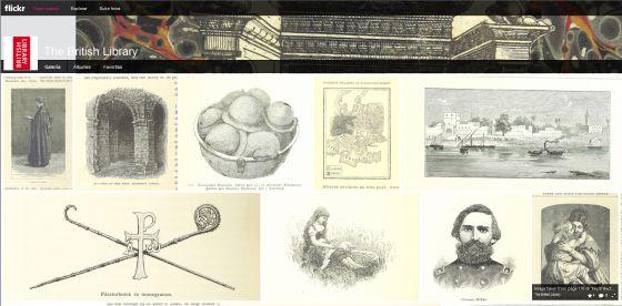 La página web de descarga de fotos de la Biblioteca Británica.