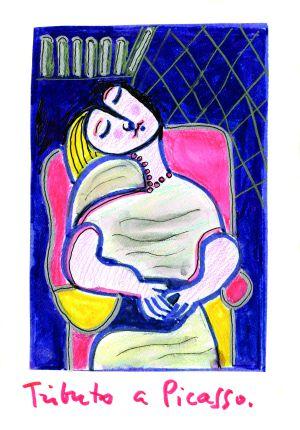 Uno de los dibujos de Joaquín Sabina