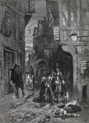 El frío y la peste hicieron estragos por la precariedad sanitaria. En la imagen, la plaga de 1665 en Londres.