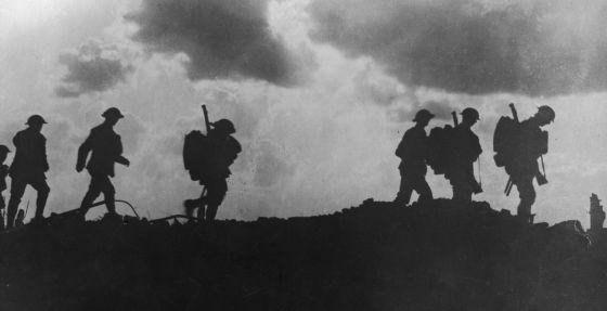 Soldados británicos durante la I Guerra Mundial