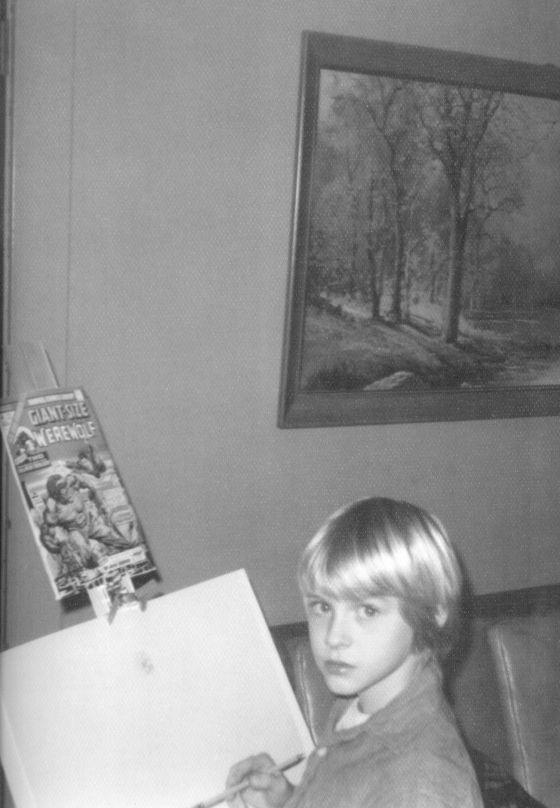 Kurt Cobain, a los ocho años, en Aberdeen.