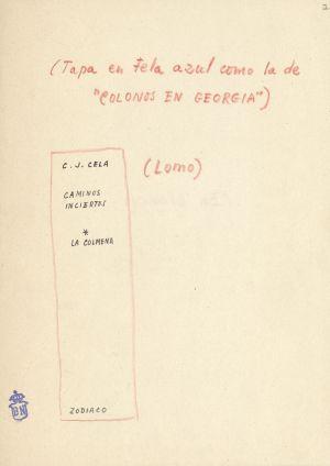 Boceto de la cubierta de 'La Colmena' de Cela