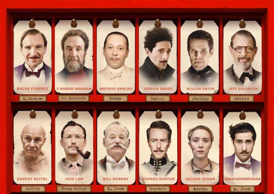 El reparto de 'El gran hotel de Budapest', repleto de caras conocidas.