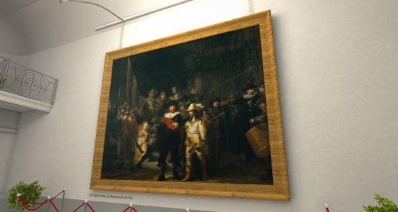 'La ronda de noche' de Rembrandt vista con la realidad virtual de Oculus.