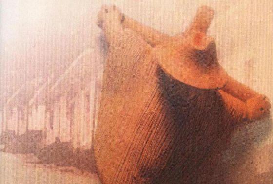 Detalle de la portada de 'El Cristo de espaldas', de Eduardo Caballero Calderón.