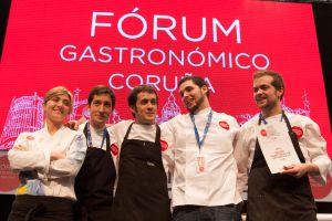 De izquierda a derecha, Lucia Freitas, Diego Bello, Álvaro Villasante, Daniel Guzmán y Diego López.