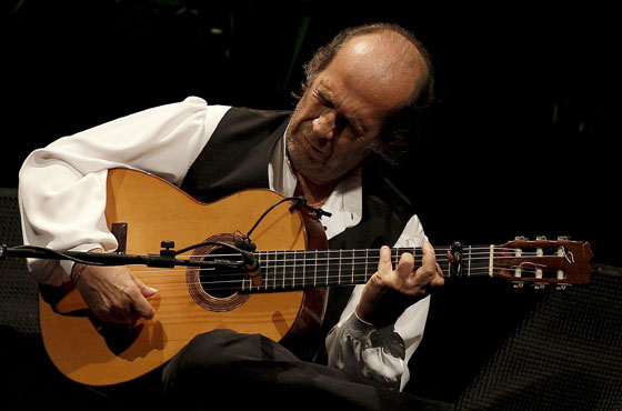 Paco de Lucía during a concert at the Teatro Real in Madrid in 2010.