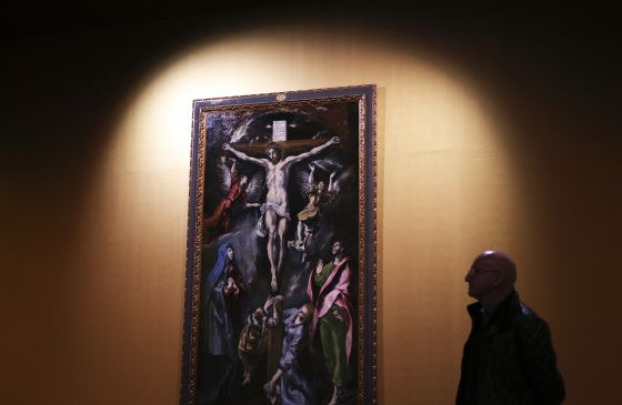'La Crucifixión' de El Greco, en la exposición del Museo de Santa Cruz en Toledo.