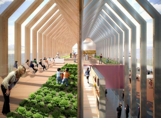 Proyecto del pabellón español en la Expo Milano 2015, del estudio B720 Fermín Vázquez Arquitectos.