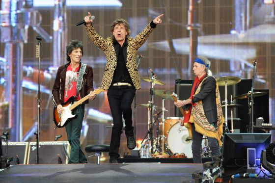 Mick Jagger, Keith Richards, Ronnie Wood durante un concierto el pasado verano en Inglaterra.