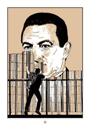 La caída de Mubarak en viñetas según el 'Cairo blues' de Pino Creanza.