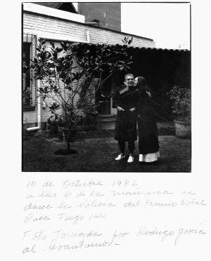 Foto tomada por Rodrigo García a sus padres: Gabriel y Mercedes.
