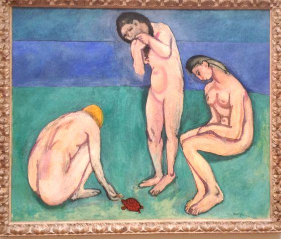 'Bañistas con una tortuga' de Henri Matisse. Museo de Arte de Saint Louis.rn rn