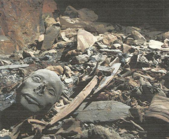 Una imagen de la tumba descubierta en el valle de los Reyes en Luxor (Egipto).