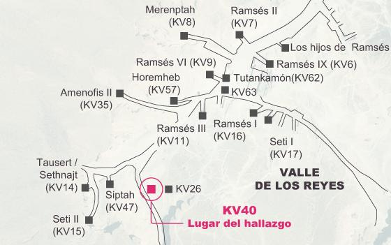KV 40, el santuario de las momias
