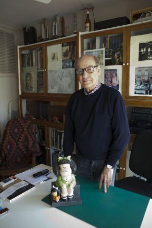 El dibujante Quino, en Buenos Aires en 2012.