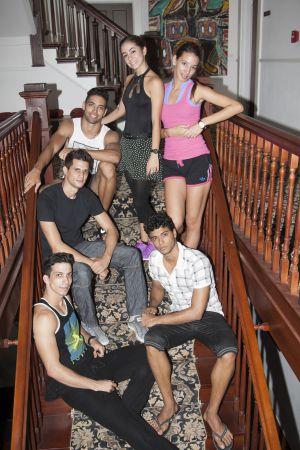 Los bailarines cubanos, el pasado martes en Miami.