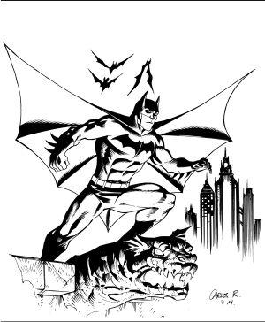 El Batman exclusivo para EL PAÍS que firma el dibujante Carlos Rodríguez.