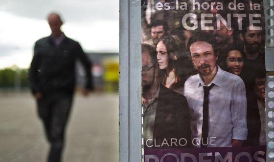 Cartel de Podemos, en la asamblea celebrada en mayo pasado en Rivas Vaciamarid.