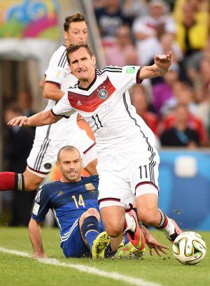 Un momento del partido Alemania-Argentina de la final del Mundial.
