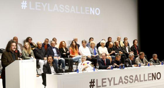 La Cultura española promueve una movilización contra la Ley Lasalle.