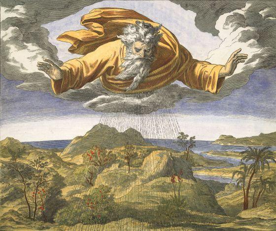 'El tercer día de la creación'. Ilustración de Julius Schnorr von Carolsfeld (1794-1874)  Akg-images