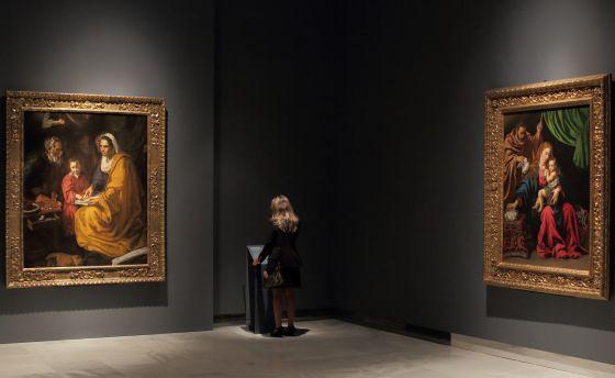 En la imagen  'La educacion de la Virgen ' de Velazquez y 'La sagrada familia' de Luis Tristán.rn