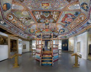 Exhibición de una obra en el Museo de la Historia de Judíos Polacos, en Varsovia.
