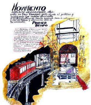 Parte de los planos del teatro giratorio ideado por Jardiel Poncela.