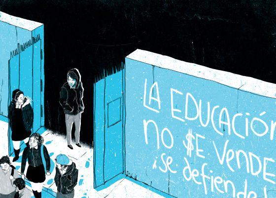 Una ilustración de 'Al sur de la alameda'.