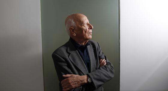 El filósofo Emilio Lledó, esta mañana en Madrid.