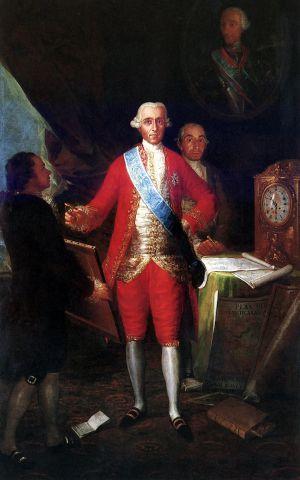 'Retrato del Conde de Floridablanca', en el Banco de España.
