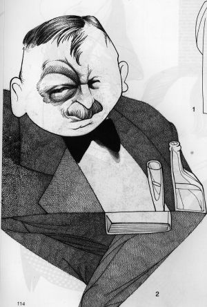 El escritor Joseph Roth visto por Loredano.