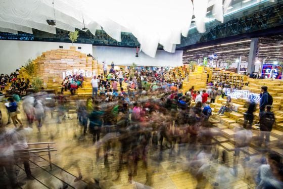 Pabellón de Israel en la Feria Internacional del Libro de Guadalajara de 2013.