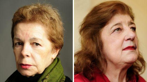 Hebe Uhart, a la izquierda; Juana Bignozzi, a la derecha.